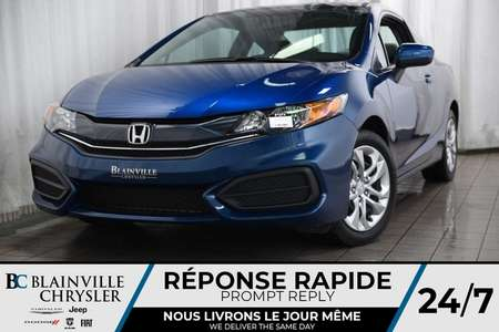 2015 Honda Civic Coupe 50$/SEM + BLUETOOTH + BANCS CHAUFF for Sale  - BC-P1274  - Desmeules Chrysler