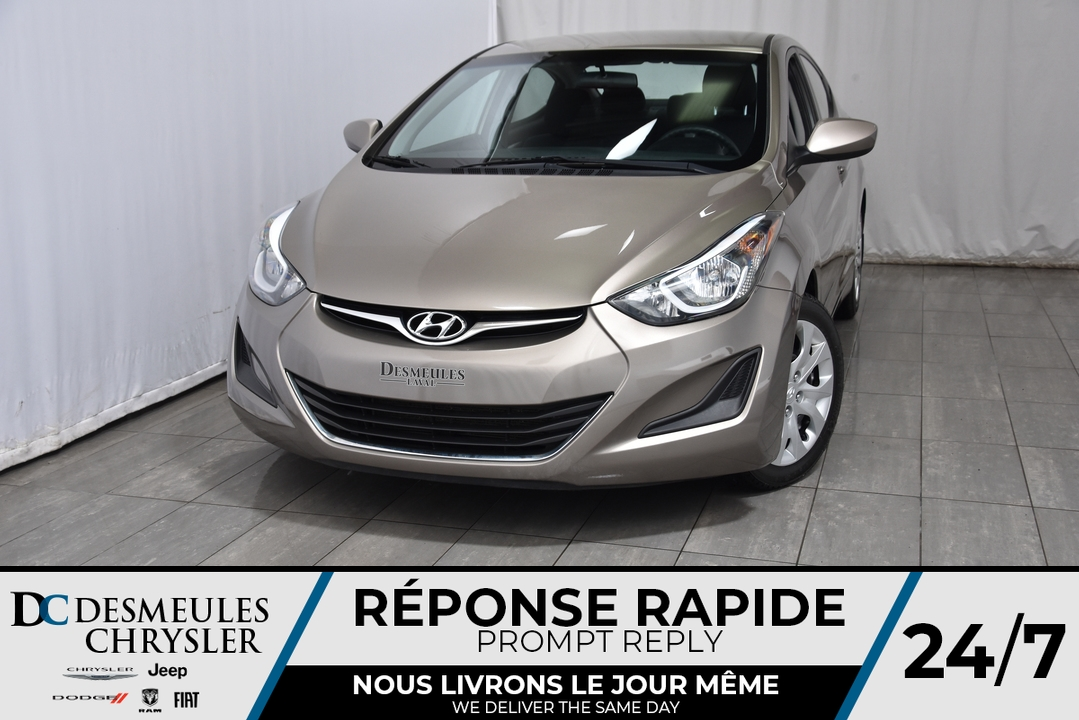2015 Hyundai Elantra  - Desmeules Chrysler