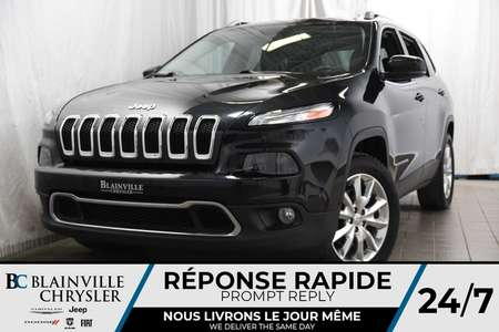 2014 Jeep Cherokee Limited+4X4+V6+CAM RECUL+MAGS+CUIR+TOIT PANO for Sale  - BC-P1177  - Desmeules Chrysler