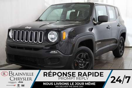 2016 Jeep Renegade SPORT + 2.4L TURBO + 4X4 + BLUETOOTH + CRUISE for Sale  - BC-P1354A  - Desmeules Chrysler
