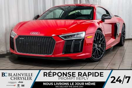 2017 Audi R8 Coupe WOW!!! R8 V10 PLUS QUATTRO + SEULEMENT 23460 KM!! for Sale  - BC-AUDIR8  - Desmeules Chrysler