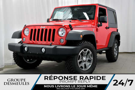 2017 Jeep Wrangler RUBICON + 2 TOITS + GPS + ALPINE +++ for Sale  - bc-70692  - Blainville Chrysler