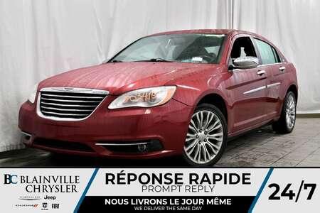 2012 Chrysler 200 LIMITED + V6 + TOIT + CUIR + ÉCRAN 6.5 POUCES for Sale  - BC-80341B  - Desmeules Chrysler