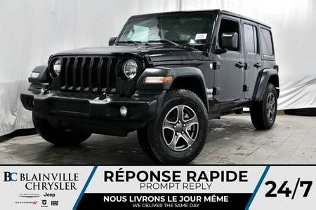 2018 Jeep Wrangler SPORT UNLIMITED + ENSEMBLE TEMP FROID for Sale  - BC-80119  - Blainville Chrysler