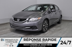 2014 Honda Civic EX + a/c + bancs chauff + toit ouv + cam recul  - DC-M1399A  - Blainville Chrysler