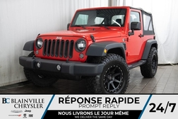 2016 Jeep Wrangler SPORT + 4X4 + MAGS + MANUELLE 6 VITESSES  - BC-P1332B  - Desmeules Chrysler