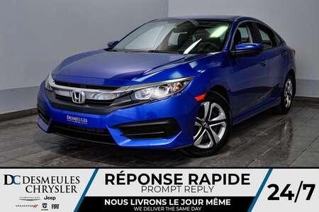 2016 Honda Civic Sedan LX *Bancs chauff *Cam de recul *75$/semaine for Sale  - DC-D1611  - Blainville Chrysler