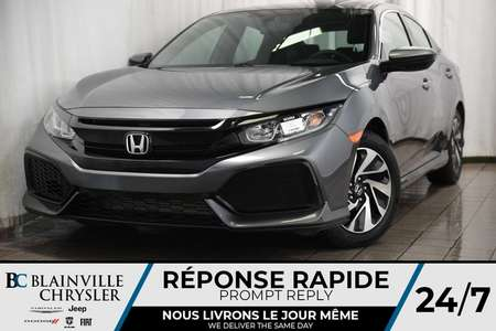 2017 Honda Civic Hatchback LX + TURBO + MAGS + CAM RECUL + BLUETOOTH for Sale  - BC-90259A  - Desmeules Chrysler