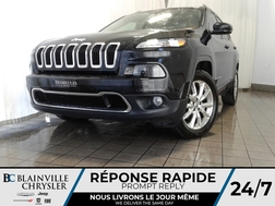2016 Jeep Cherokee LIMITED + V6 3.2L + 4X4 + MAGS + CUIR + CAM RECUL  - BC-P1326  - Desmeules Chrysler