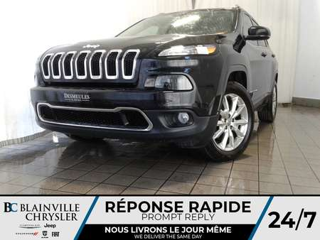 2016 Jeep Cherokee LIMITED + V6 3.2L + 4X4 + MAGS + CUIR + CAM RECUL for Sale  - BC-P1326  - Blainville Chrysler
