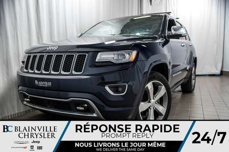 2014 Jeep Grand Cherokee 104$ SEM+Overland+CUIR+GPS+TOIT OUVRANT+LOADED+ for Sale  - BC-P1141  - Desmeules Chrysler