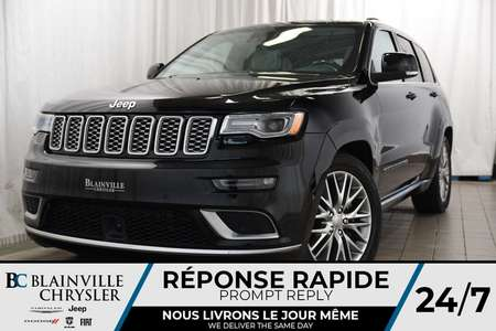 2018 Jeep Grand Cherokee Summit+AWD+V8 5.7L+SUSPENSION AIR+NAV+HEMI for Sale  - BC-P1148  - Blainville Chrysler