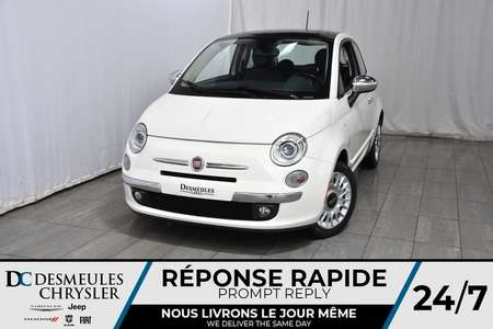 2013 Fiat 500 Lounge * Toit Ouvr * Syst son Beats * 2 Portes for Sale  - DC-A1130  - Blainville Chrysler