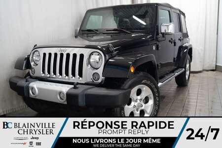 2014 Jeep Wrangler SAHARA * MAGS * 4X4 * BLUETOOTH * RADIO SATELLITE for Sale  - BC-20003B  - Desmeules Chrysler