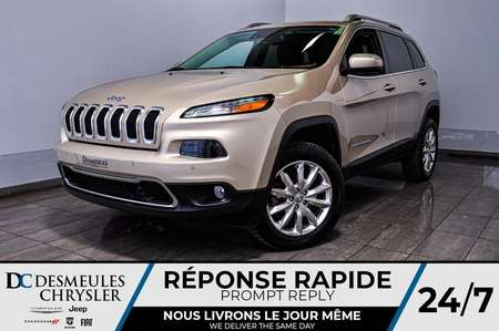 2014 Jeep Cherokee Limited + BANCS CHAUFF + CAM RECUL for Sale  - DC-B1607  - Desmeules Chrysler