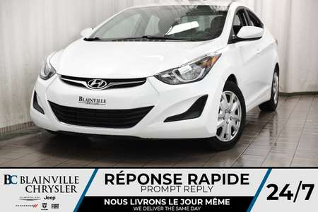 2015 Hyundai Elantra SE + AUTO + BLUETOOTH + CLIM for Sale  - BC-P1256  - Blainville Chrysler