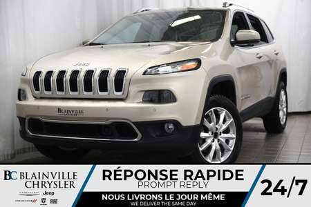 2014 Jeep Cherokee LIMITED+CUIR+CRUISE CONTROL ADAPT.+ for Sale  - BC-P1239A  - Desmeules Chrysler