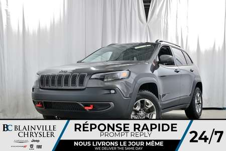 2019 Jeep Cherokee TRAILHAWK + TOIT PANO + CUIR + NAV + BLUETOOTH for Sale  - 90077  - Blainville Chrysler