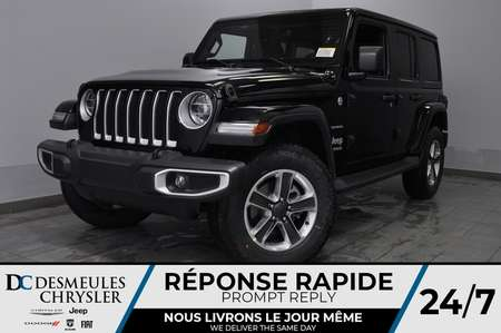 2020 Jeep Wrangler Sahara + TURBO + BANCS CHAUFF + UCONNECT *142$/SEM for Sale  - DC-20145  - Desmeules Chrysler