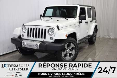 2017 Jeep Wrangler GPS * BLUETOOTH * SAHARA 4X4 for Sale  - DC-DE71281  - Desmeules Chrysler