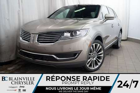 2016 Lincoln MKX EDITION RESERVE * AWD * BLUETOOTH * TOIT PANO for Sale  - BC-P1442  - Desmeules Chrysler