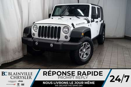 2018 Jeep Wrangler JK Unlimited RUBICON * MAGS * 4X4 * BLUETOOTH * NAV * CLIM for Sale  - BC-P1454  - Desmeules Chrysler