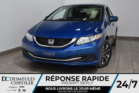 2015 Honda Civic Sedan LX * Sièges chauff  * Cam Rec * 63$/Semaine for Sale  - DC-M1410  - Desmeules Chrysler