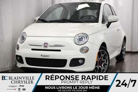 2012 Fiat 500 26$/SEM + SPORT + CUIR + MAGS + BLUETOOTH for Sale  - BC-70815A  - Blainville Chrysler