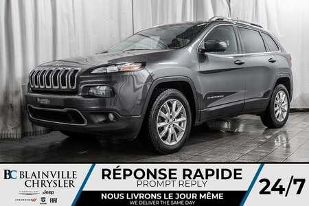 2016 Jeep Cherokee Limited * SIÈGES EN CUIR CHAUFFANT ET VENTILÉ * for Sale  - BC-90436A  - Blainville Chrysler