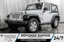 2017 Jeep Wrangler SPORT * MAGS * 4X4 * MANUELLE 6 VITESSES  - BC-P1455  - Blainville Chrysler
