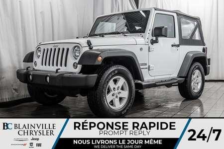 2017 Jeep Wrangler SPORT * MAGS * 4X4 * MANUELLE 6 VITESSES for Sale  - BC-P1455  - Blainville Chrysler