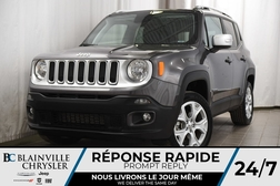2018 Jeep Renegade 88$SEM + LIMITED + 4X4 + TOIT + CUIR + MAGS + NAV  - BC-P1196  - Desmeules Chrysler