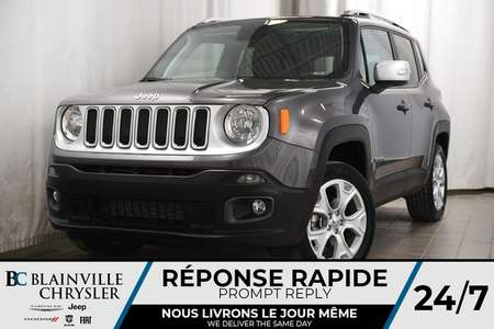 2018 Jeep Renegade LIMITED + 4X4 + TOIT + CUIR + MAGS + NAV for Sale  - BC-P1196  - Desmeules Chrysler