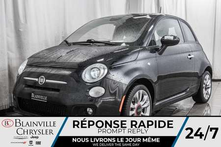 2015 Fiat 500 SPORT * AUTOMATIQUE * CUIR ROUGE * TOIT OUVRANT * for Sale  - BC-P1437B  - Blainville Chrysler
